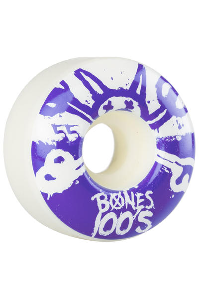 Bones 100's-OG #15 55mm Rollen (white purple) 4er Pack