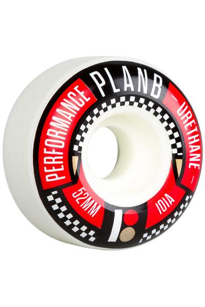 Plan B Team Checked 52mm Rollen (white) 4er Pack