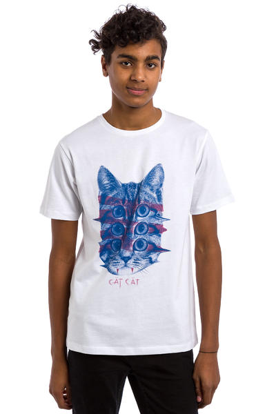 Tealer Cat Cat T-Shirt (white)