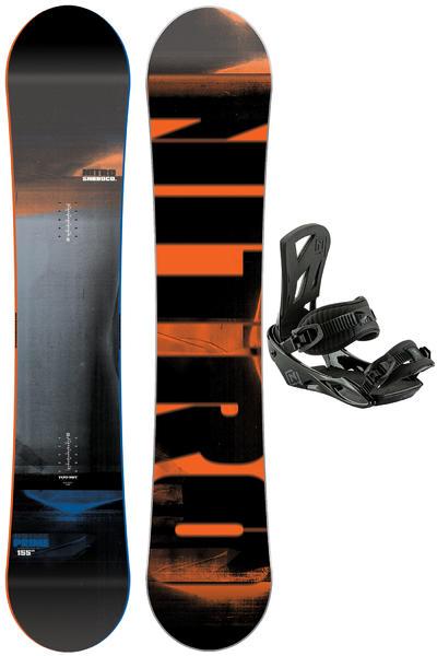Nitro Prime 155cm / Staxx L Set de Snowboard 2016/17