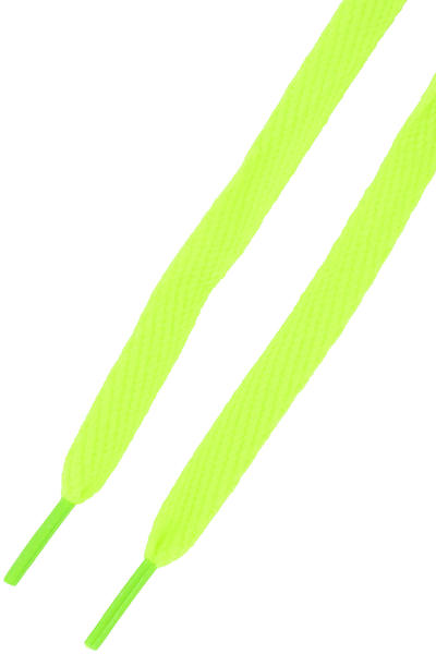 Mr. Lacy Flatties Cordones (neon lime yellow neon green tip)
