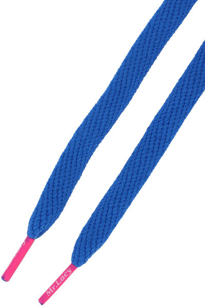 Mr. Lacy Flatties Laces (royal blue neon pink)
