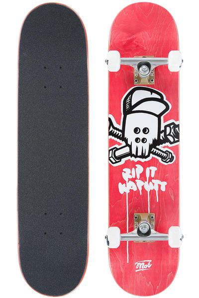 "MOB Skateboards Team Skull 7.5"" Complete-Board (red)"