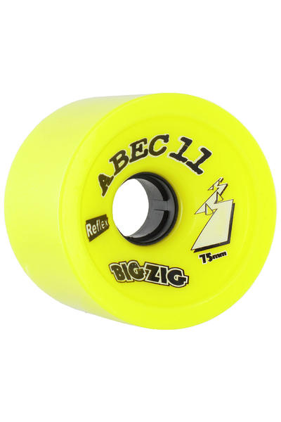 ABEC 11 Retro Big Zigs 75mm 83a Rollen (lemon) 4er Pack