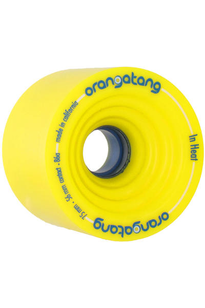 Orangatang In Heat 75mm 86A Rollen (yellow) 4er Pack