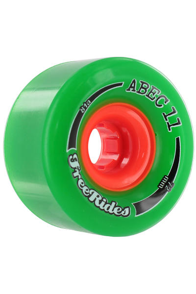 ABEC 11 Classic Freeride 72mm 81A Rollen (green) 4er Pack