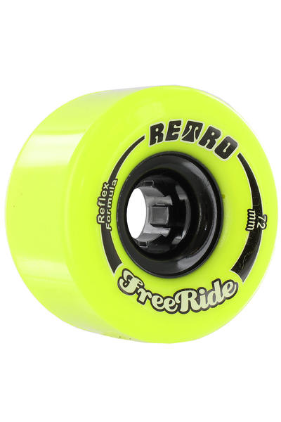 Retro Freeride 72mm 83A Rollen (lemon) 4er Pack
