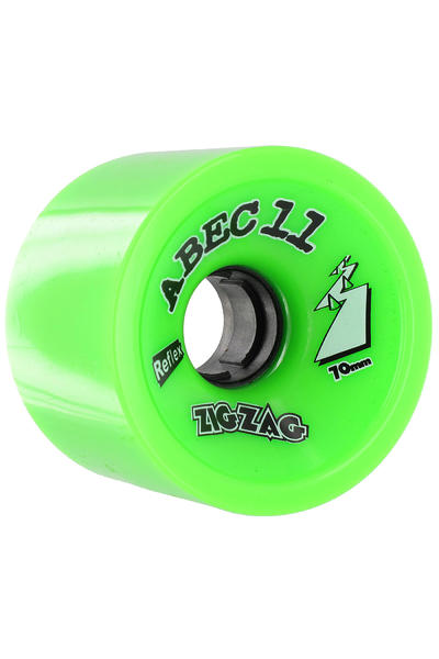 ABEC 11 Retro Zig Zags 70mm 80a Rollen (lime) 4er Pack