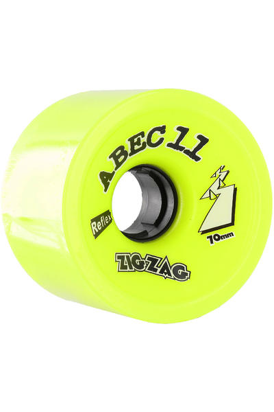 ABEC 11 Retro Zig Zags 70mm 83A Rollen (lemon) 2er Pack