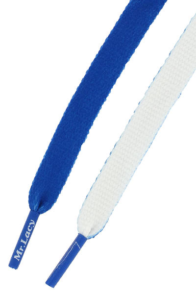 Mr. Lacy Clubbies Schnürsenkel (royal blue white)