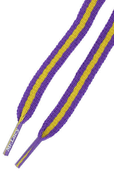 Mr. Lacy Stripies Cordones (violet yellow)