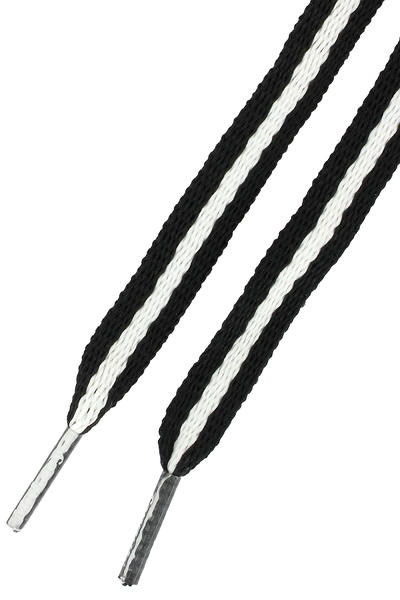 Mr. Lacy Stripies Laces (black white)