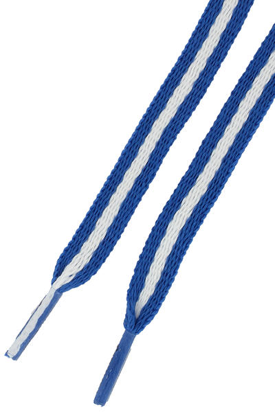Mr. Lacy Stripies Laces (royal blue white)