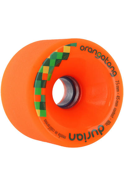 Orangatang Durian 75mm 80A Wheel (orange) 4 Pack