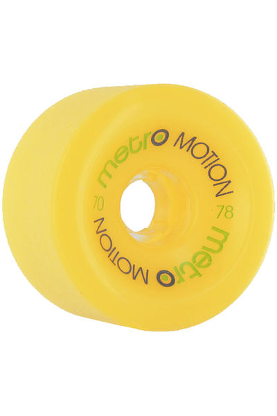 Metro Wheels Motion 70mm 78A Wheel (yellow) 4 Pack