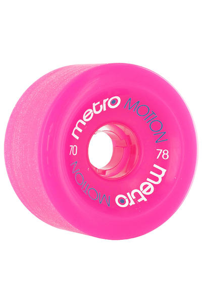 Metro Wheels Motion 70mm 78A Wheel (pink) 4 Pack