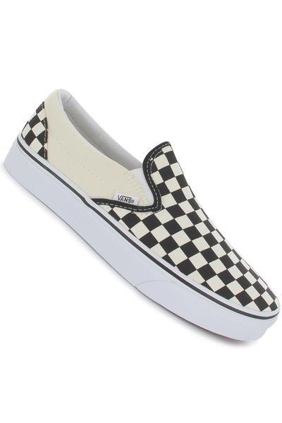 Vans Classic Slip-On Shoe (black and white checker white)
