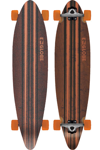 "Globe Pinner 41.25"" (105cm) Komplett-Longboard (black orange)"