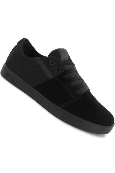 Supra Stacks Suede Canvas Shoe (black black)