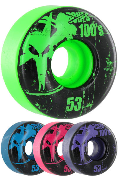Bones 100's-OG #11-Party-Pack 53mm Rollen (multi) 4er Pack