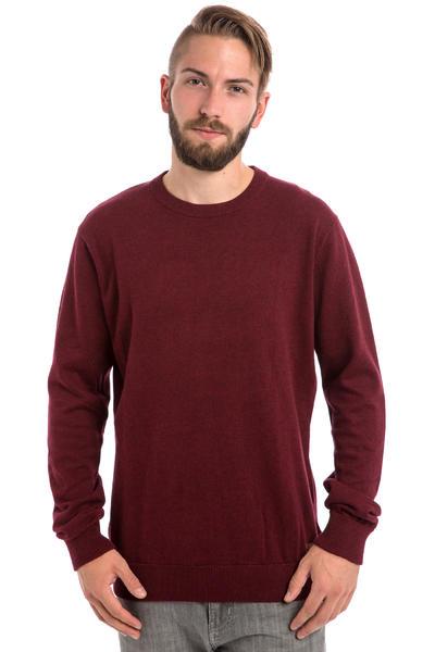 Iriedaily Patch Crew Sweatshirt (maroon melange)