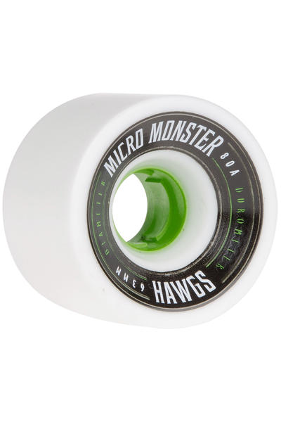 Hawgs Micro Monster 63mm 80A Roue (white) 4 Pack