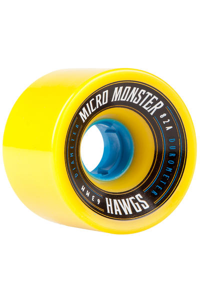 Hawgs Micro Monster 63mm 82A Roue (yellow) 4 Pack