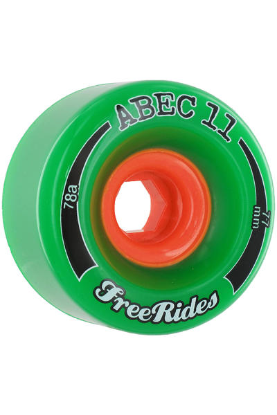 ABEC 11 Classic Freeride 77mm 78A Rollen (green) 4er Pack