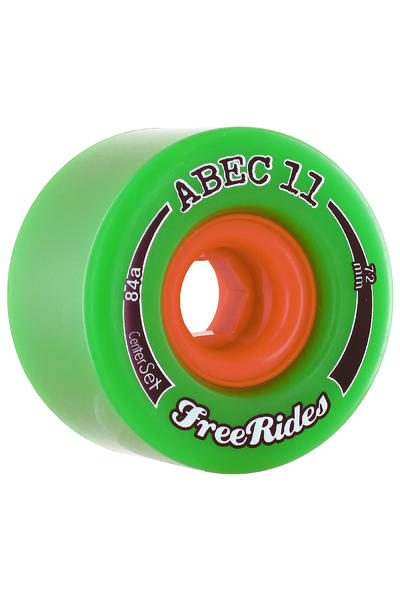 ABEC 11 Centerset Freeride 72mm 84A Rollen (green) 4er Pack