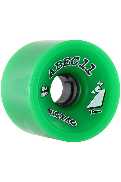 ABEC 11 Zig Zags Classic 70mm 81A Wheel (green) 4 Pack