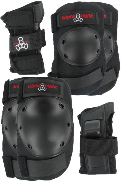 Triple Eight 3 Pack Set de protección (black)