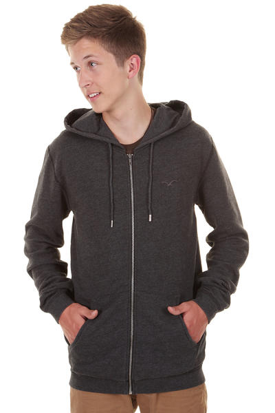 Cleptomanicx Ligull 2 Zip-Hoodie (heather black)