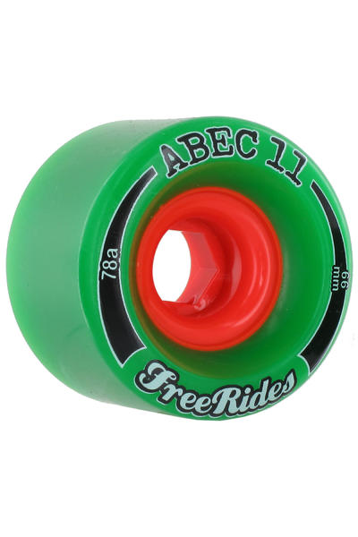 ABEC 11 Classic Freeride 66mm 78A Rollen (green) 4er Pack