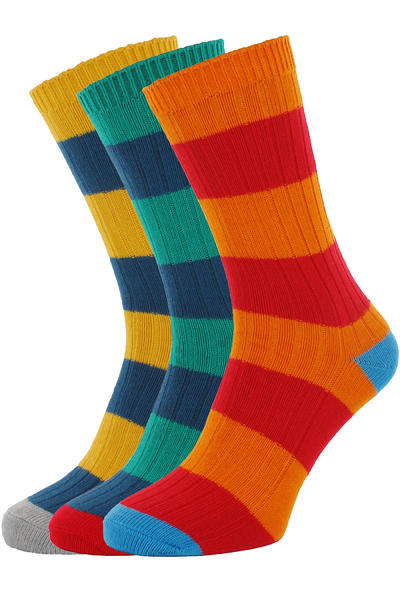 Globe Fat Stripe Boots Deluxe Calcetines US 7-11 (assorted) Pack de 3