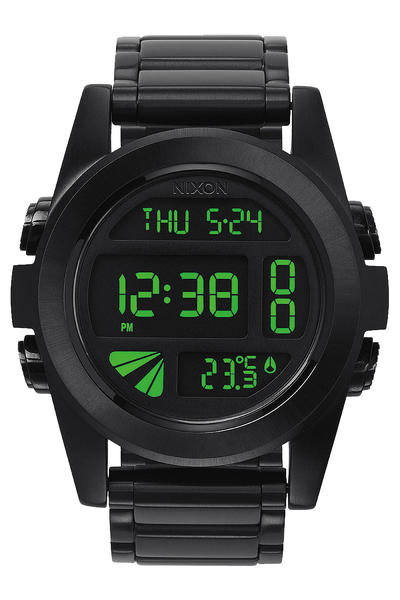 Nixon The Unit SS Watch (all black green)