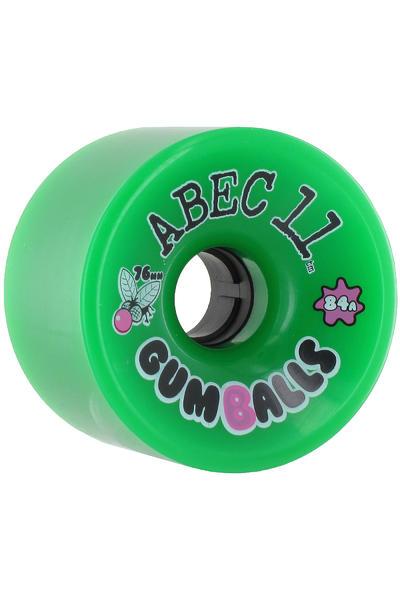 ABEC 11 Gumballs 76mm 84A Rollen (green) 4er Pack