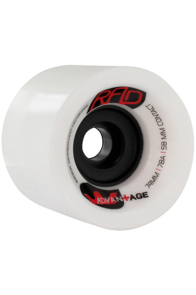 R.A.D. Advantage 74mm 78A Rollen (white) 4er Pack