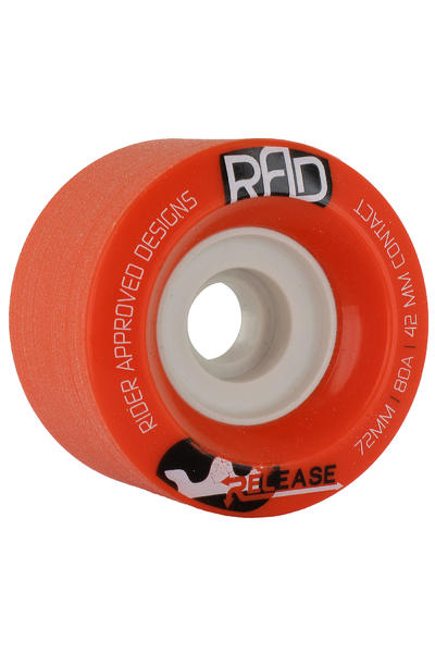 R.A.D. Release 72mm 80A Wheel (red) 4 Pack