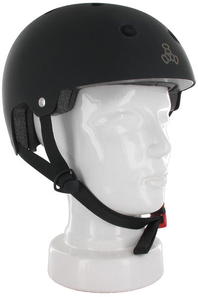 Triple Eight Brainsaver Helmet (all black rubber)