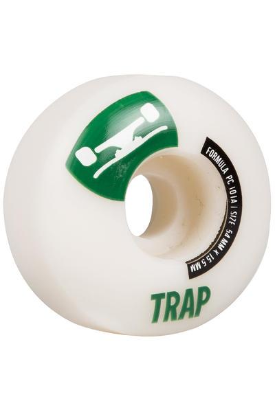 Trap Skateboards Crossbreed 54mm Wheel (white dark green) 4 Pack