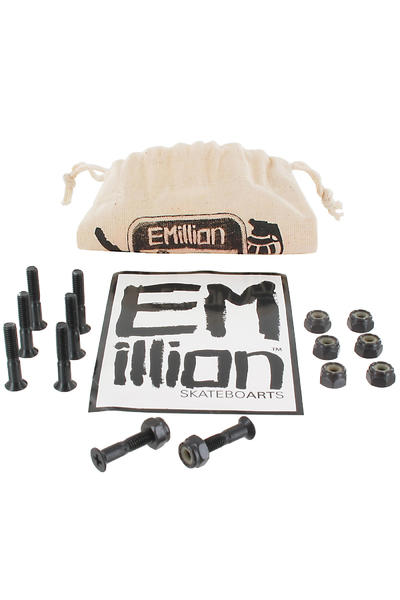 "EMillion Bolt Ya Nuts 1"" Bolt Pack inkl. Beutel (black) Flathead (countersunk) cross slot"