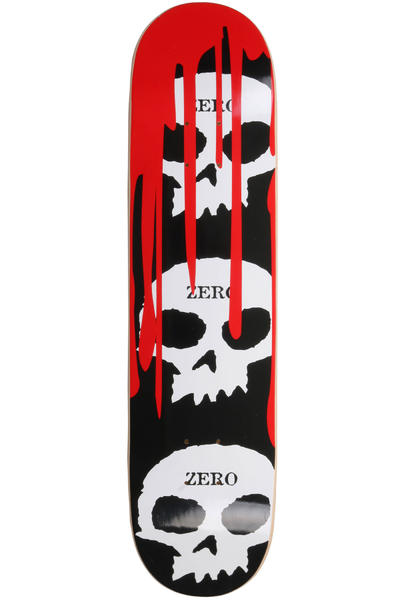 "Zero 3-Skull Blood Black Classic 7.875"" Deck (black)"