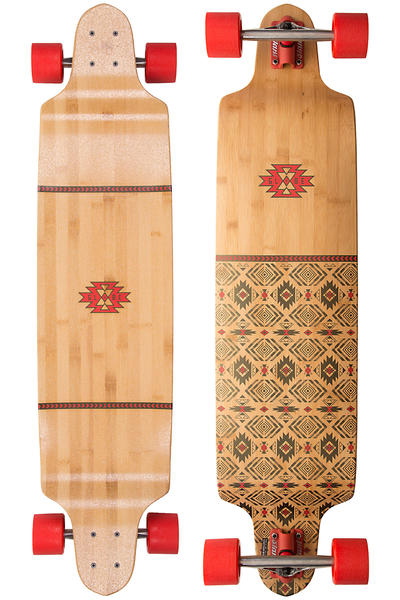 "Globe Bannerstone 41"" (104,1cm) Complete-Longboard (red bamboo)"