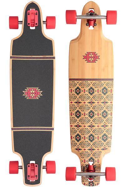 "Globe Spearpoint 40"" (101,6cm) Complete-Longboard (red bamboo)"