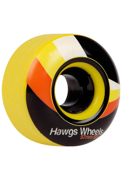 Hawgs Street 57mm 82A Rollen (yellow) 4er Pack