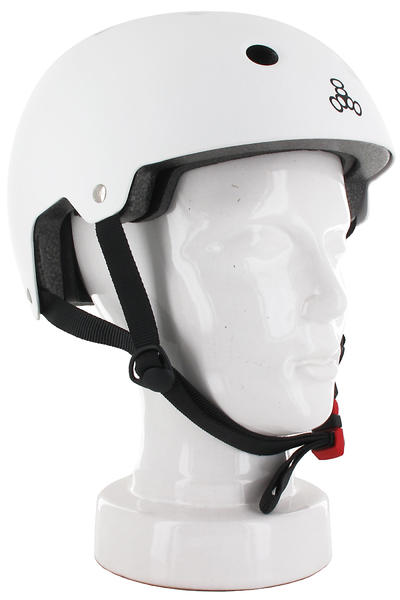 Triple Eight Brainsaver Helmet (white rubber)