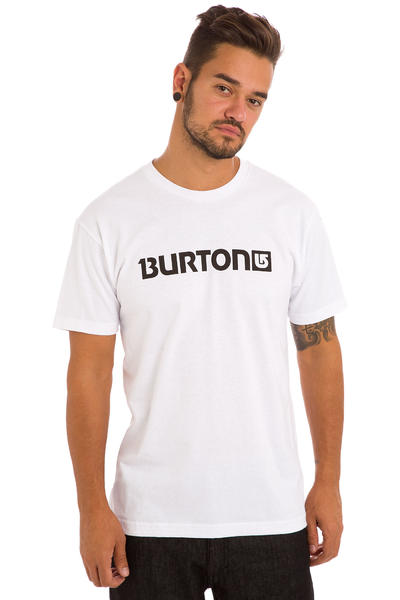 Burton Logo Horizontal T-Shirt (stout white black)