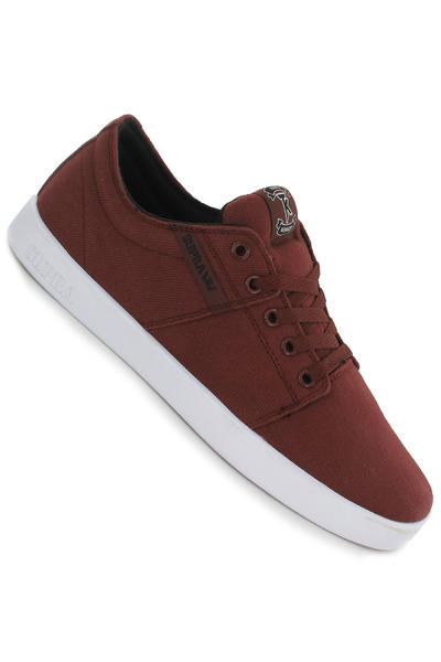 Supra Stacks Shoe (burgundy black white)