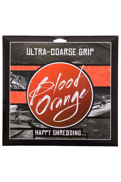 Blood Orange Heavy-Duty Ultra-Coarse Griptape (neon orange) 4 Pack