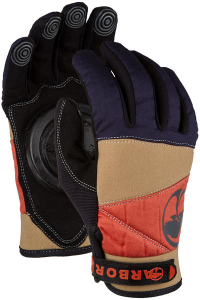 Arbor Signature Slide Gloves (khaki orange coral blue)
